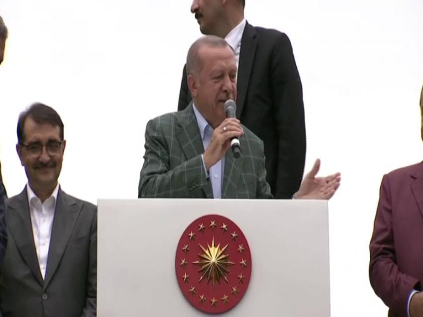 """Cumhurbaşkanı Erdoğan: """"Doğu Akdeniz'de Türkiye yokmuş, eline dilini dursun"""""""