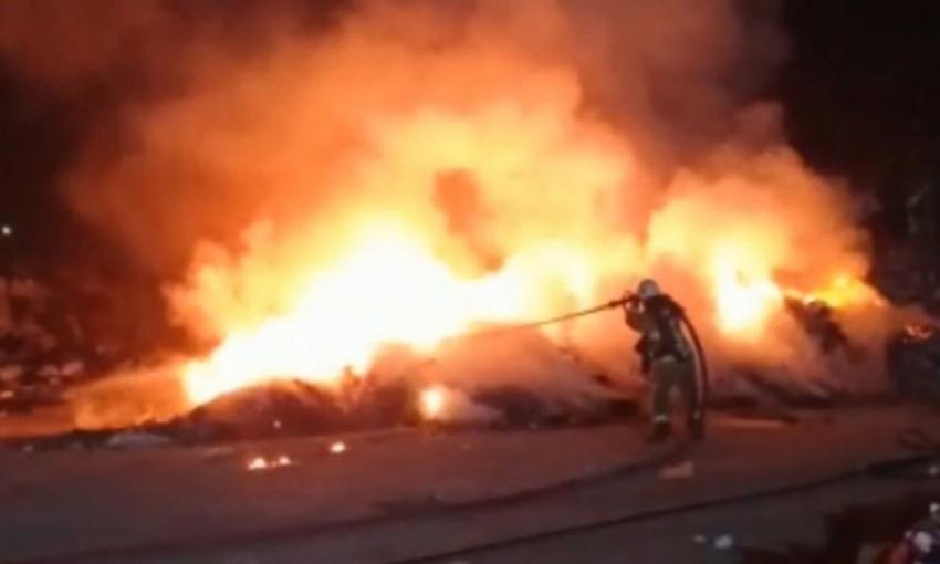 Özlüce'de yangın