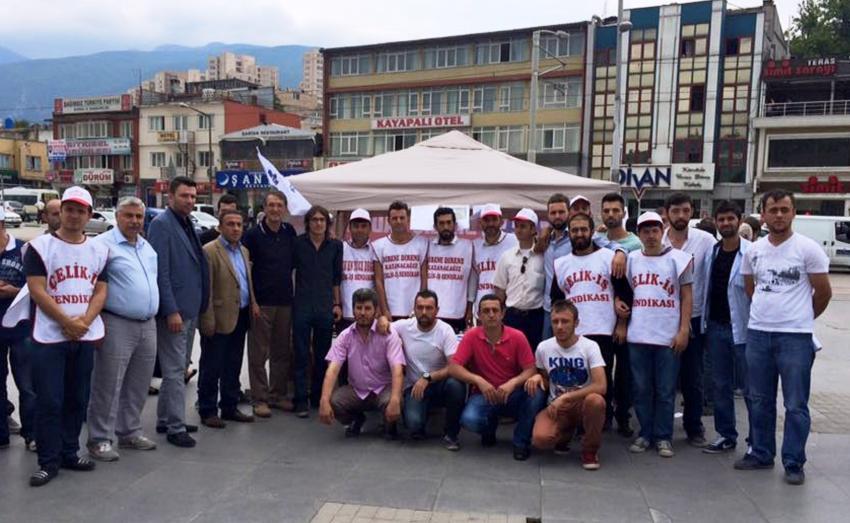 İrgil'den Tofaş işçilerine destek