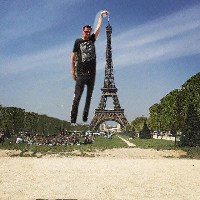 """""""Birisi Eyfel Kulesi'ni parmaklarımın altına photoshop yapabilir mi?"""""""