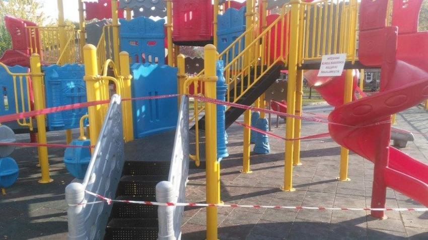 Çocuk parklarına Korona yasağı getirildi