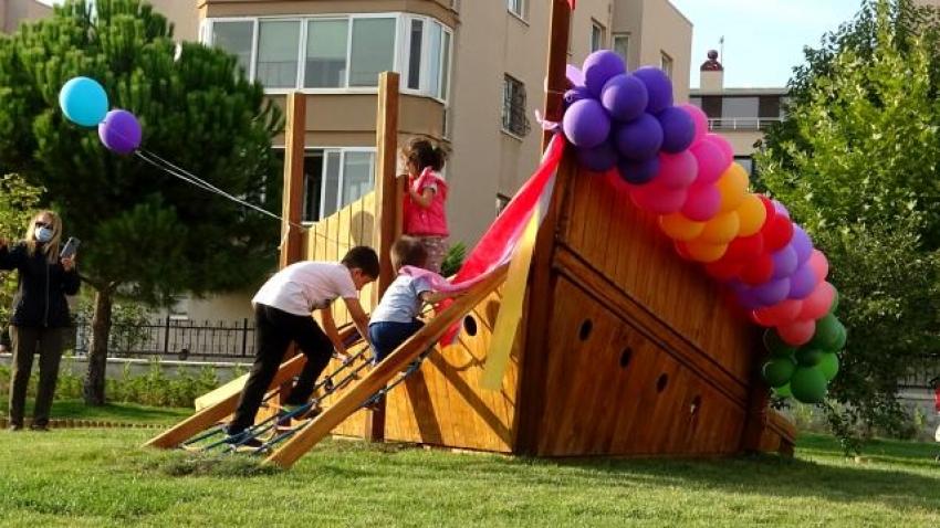 Nilüferli çocukların tasarladığı parkı çocuklar açtı