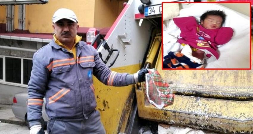Yeni doğmuş bebeği çöpe attılar