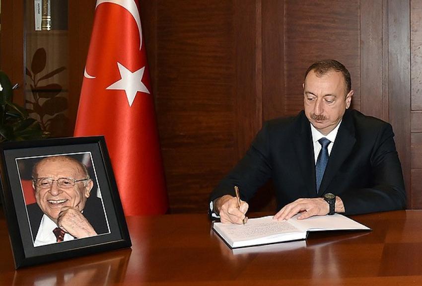 Aliyev'den taziye ziyareti