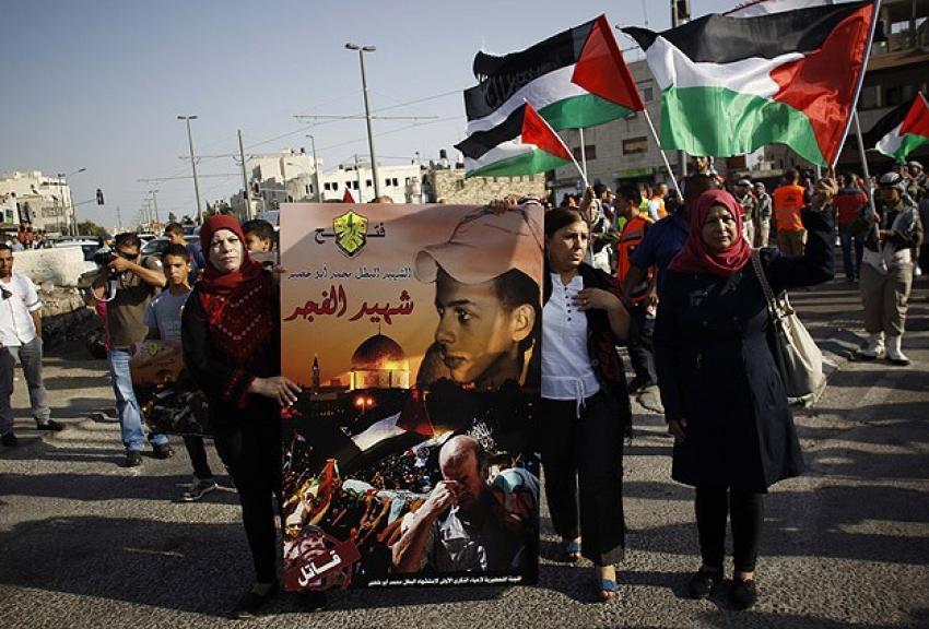 Yakılarak katledilen Filistinli genç anıldı