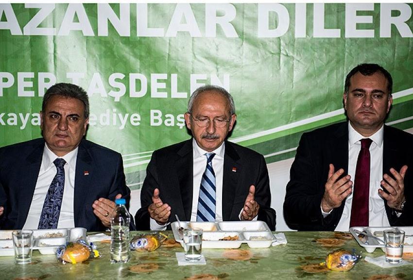 Kılıçdaroğlu iftar çadırında oruç açtı