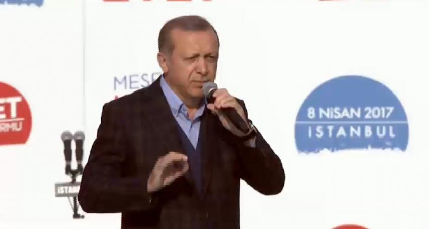 Erdoğan Yenikapı'da konuştu