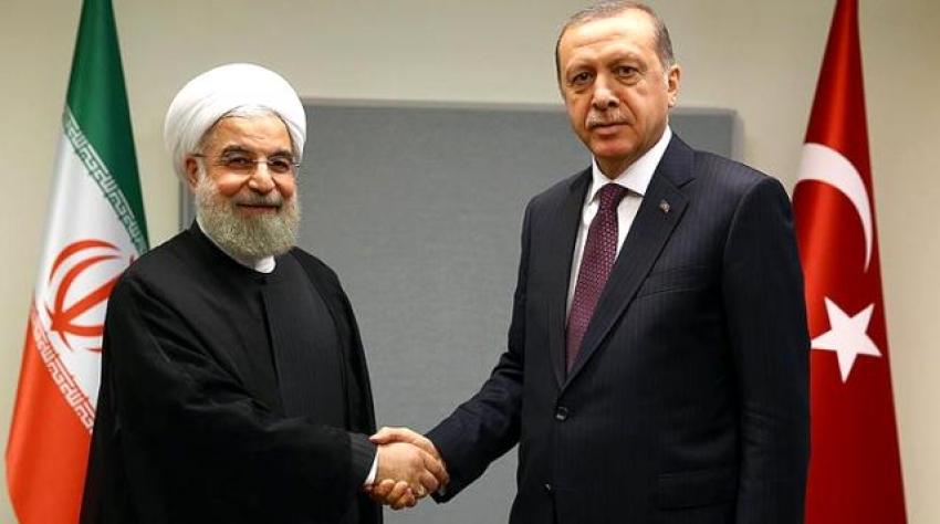 Erdoğan, İran Cumhurbaşkanı Ruhani ile görüştü!