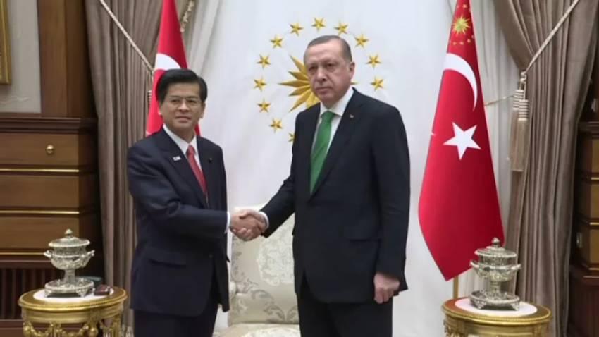 Cumhurbaşkanı Erdoğan Japon Bakanı kabul etti
