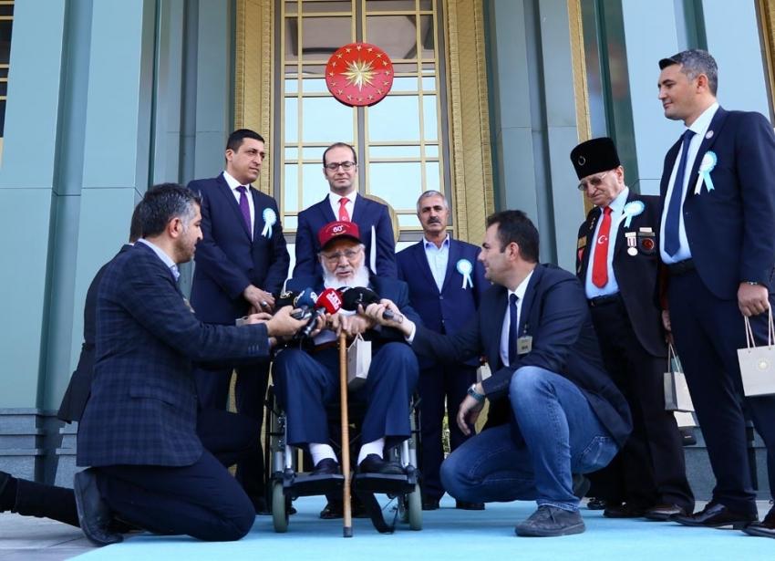 Cumhurbaşkanı Erdoğan, gazilerle bir araya geldi