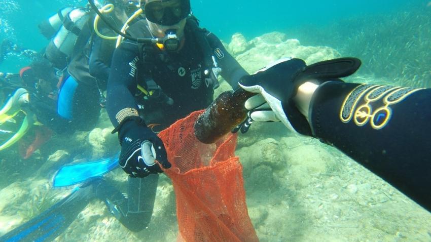 Deniz dibi temizlik çalışmaları sona erdi