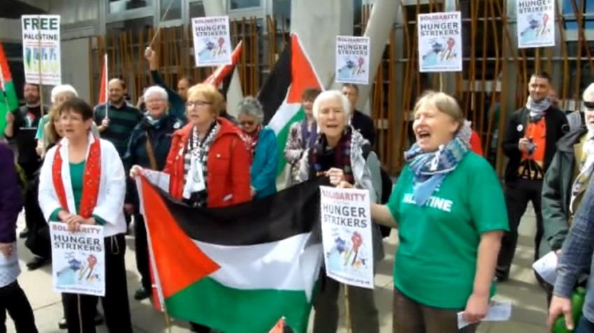 Filistinli mahkumların açlık grevine İrlanda'dan destek