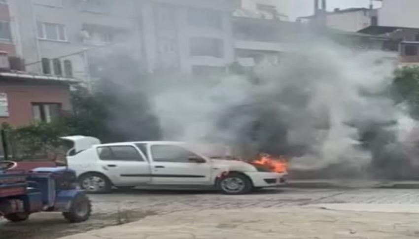 Araç yangını