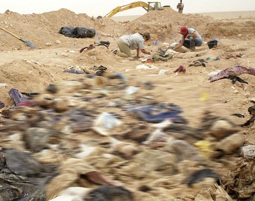 Irak'ta toplu mezar bulundu