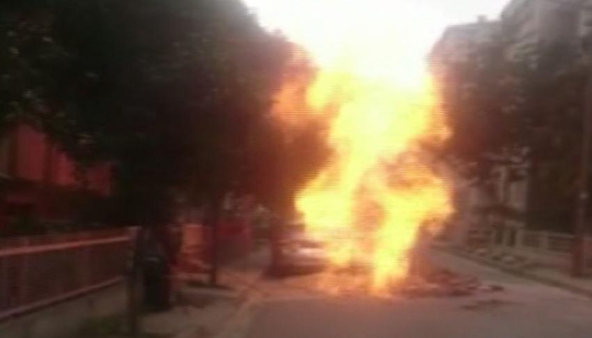 İstanbul'da doğalgaz borusu patladı!