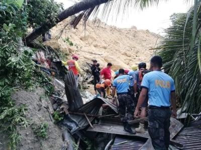 Filipinler'deki toprak kaymasında bilanço artıyor
