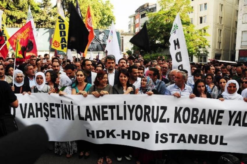 Taksim'de IŞİD protestosu
