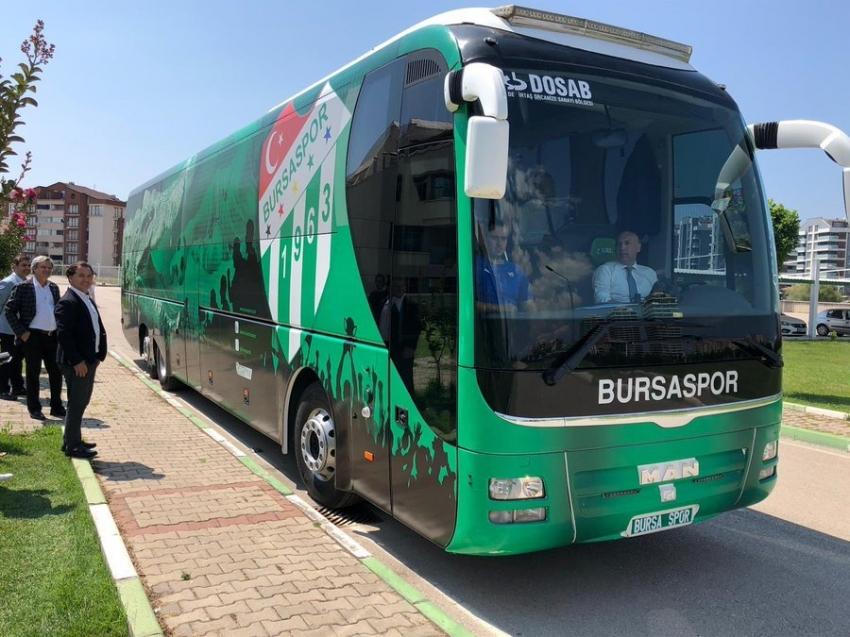 Takım otobüsümüz geldi