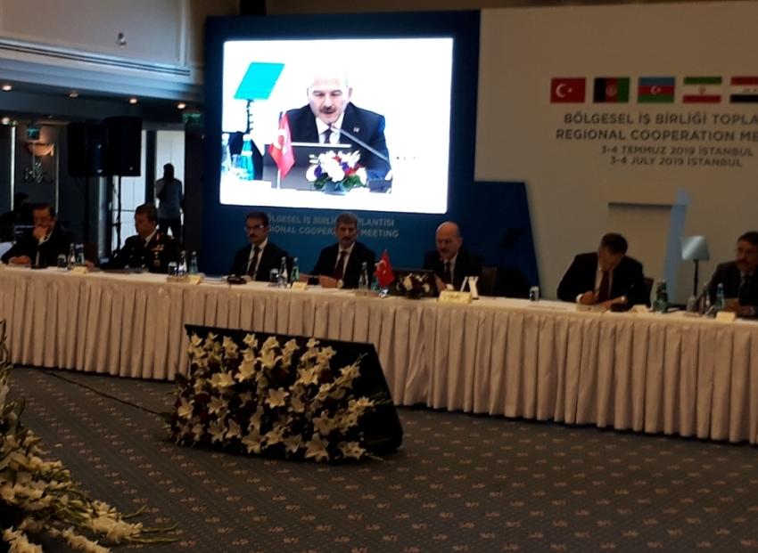 Bakan Soylu Bölgesel İşbirliği Toplantısında konuştu