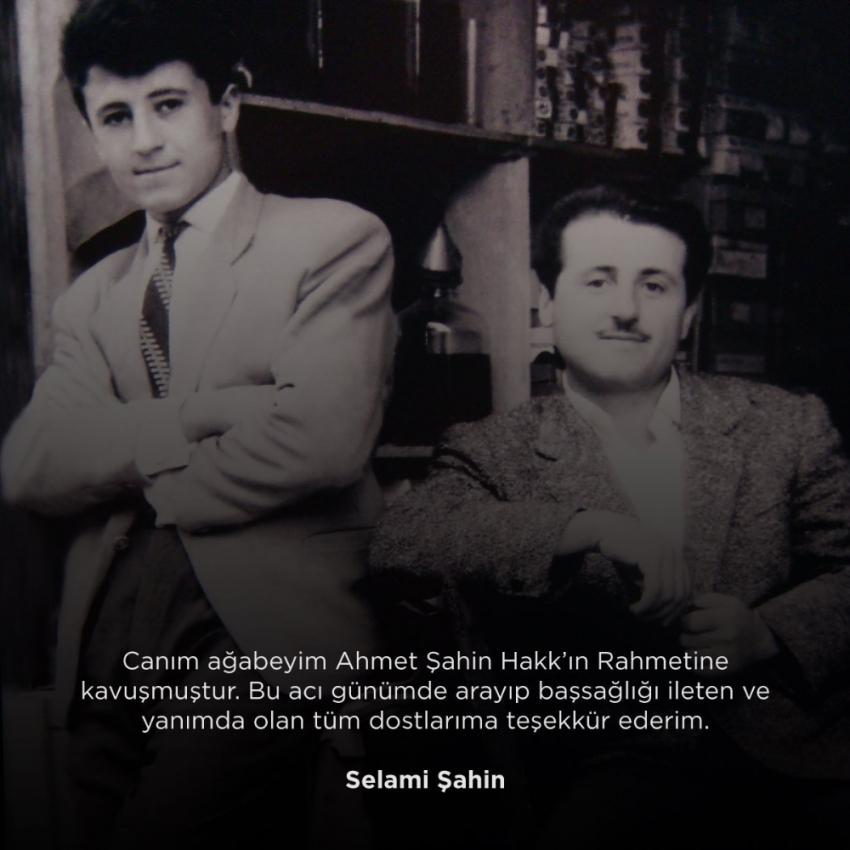 Ünlü sanatçı Selami Şahin'in acı günü