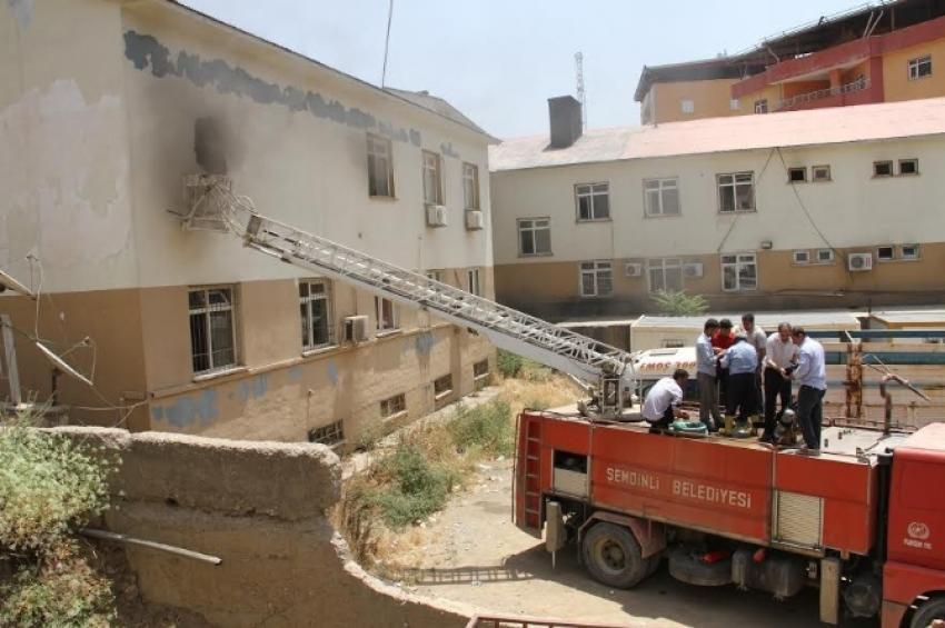 Hastanede yangın paniği