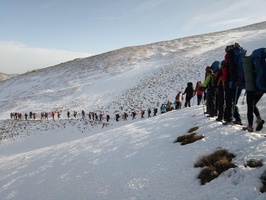 Dağcılardan Uludağ'da vefa tırmanışı