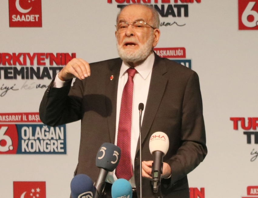 Karamollaoğlu'ndan Zeytin Dalı Harekatı'na destek