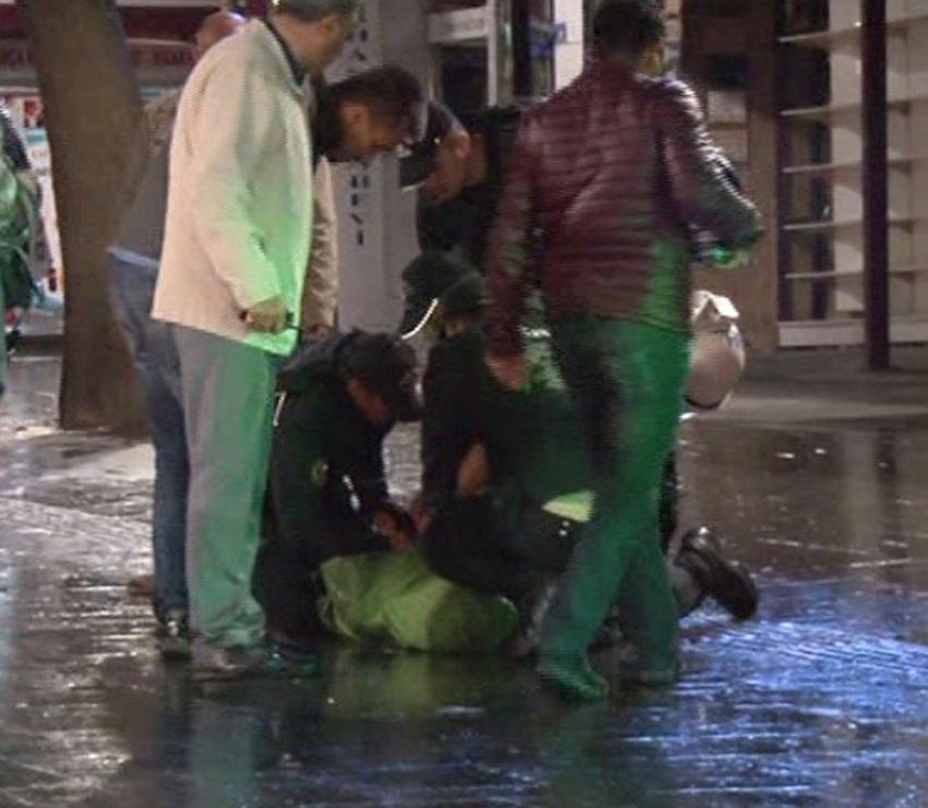 KHK protestosuna polis müdahalesi: 2 gözaltı