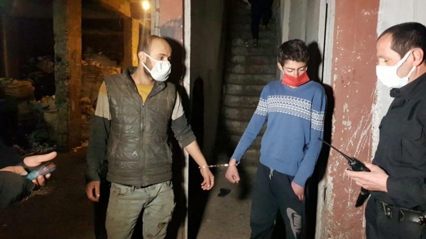Bursa'da kelepçelenen kardeşleri polis kurtardı
