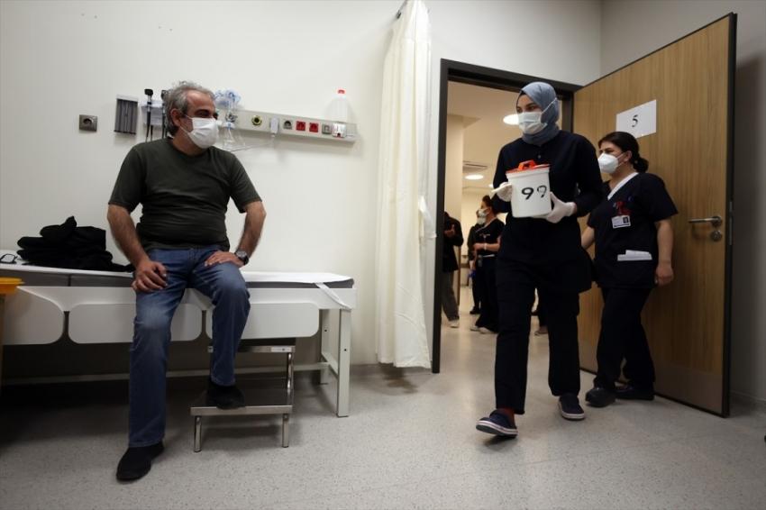 Bursa'da iftar sonrası aşı