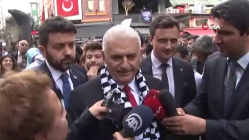 Binali Yıldırım'a Beşiktaş'ta yoğun ilgi
