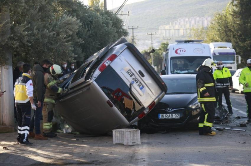 Bursa'da korkunç kaza:1 ölü