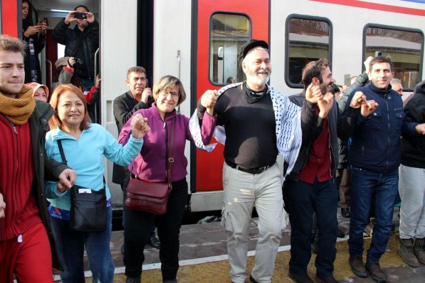 Doğu Ekspresi'ne Erzurum'da renkli karşılama