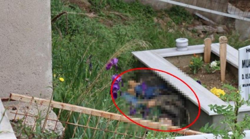 Aile mezarlığında kayıp oğlunun cesedini buldu