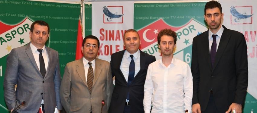 Bursaspor Durmazlar ile Sınav Koleji iş birliği anlaşması imzaladı