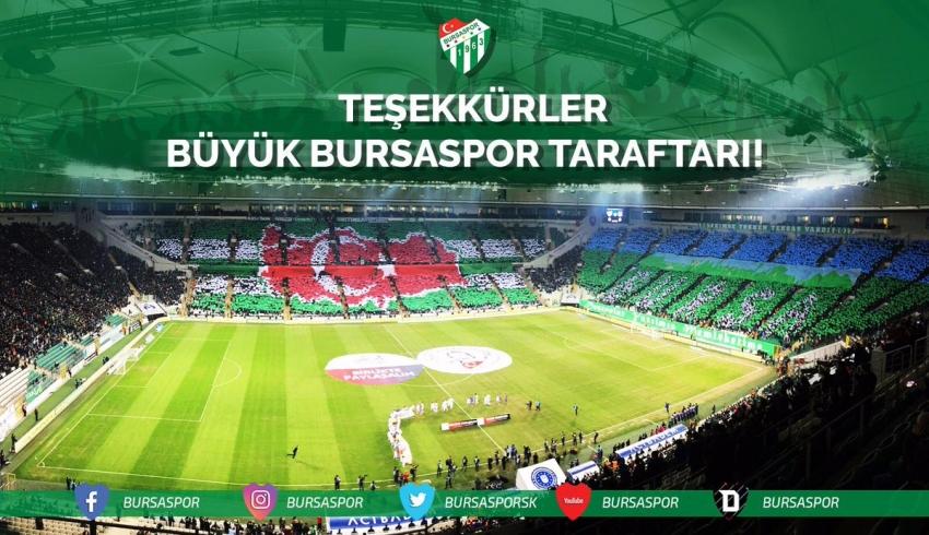 Bursaspor'dan teşekkür