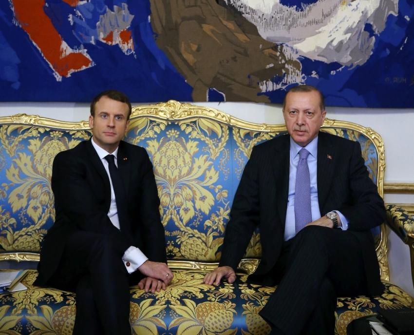 Erdoğan, Franssız mevkidaşı Macron ile görüştü