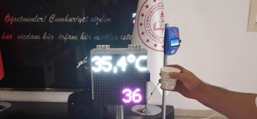 Meslek lisesinde uzaktan otomatik ateş ölçer cihazı geliştirildi