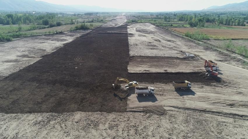 Tokat'ın yeni havalimanında çalışmalar başladı