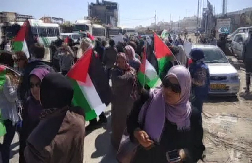 İşgalci İsrail askerlerinden Filistinli kadınlara sert müdahale