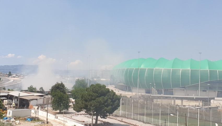 Timsah Arena'da yangın uyarısına Bursaspor'dan cevap