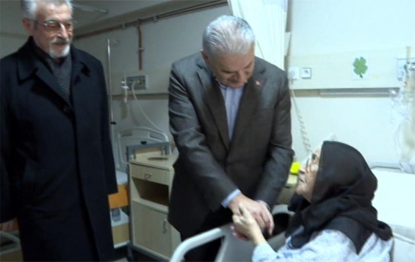 Yıldırım'dan sürpriz hastane ziyareti