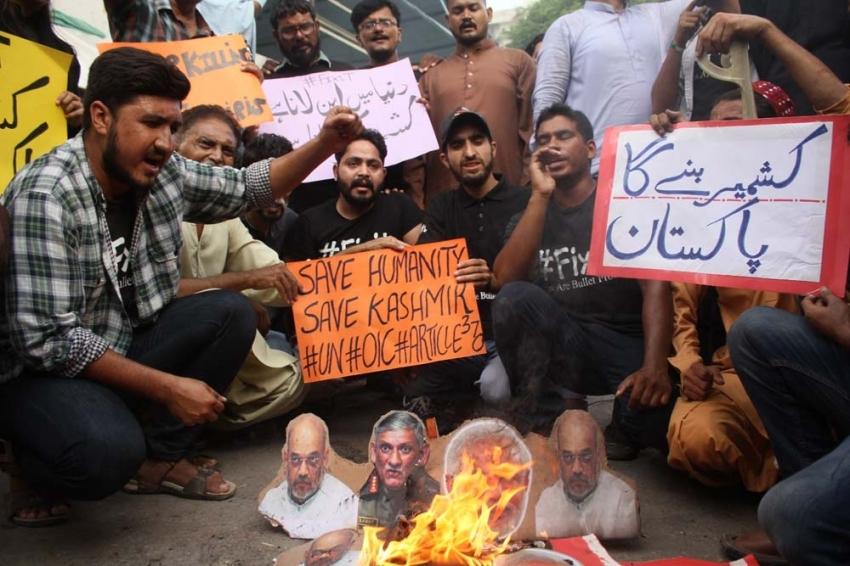 Pakistan'ın Muhafazakar Partisi'nden Hindistan karşıtı protesto