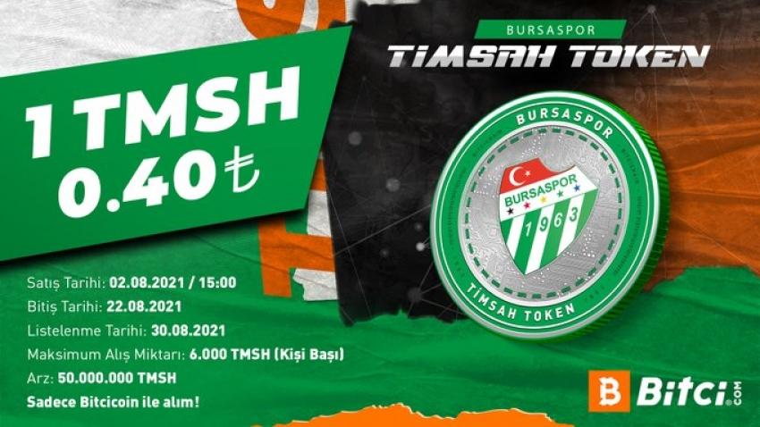 Bursaspor'un Fan Token'ı Timsah Token'in arzı 2 Ağustos'ta gerçekleşecek.