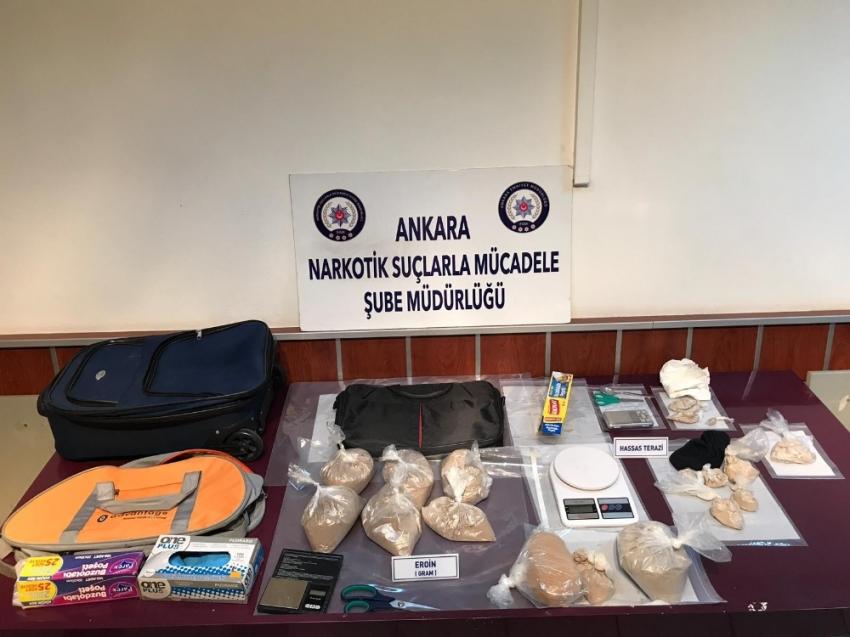 İstanbul'dan Ankara'ya eroin getiren çeteye dev operasyon