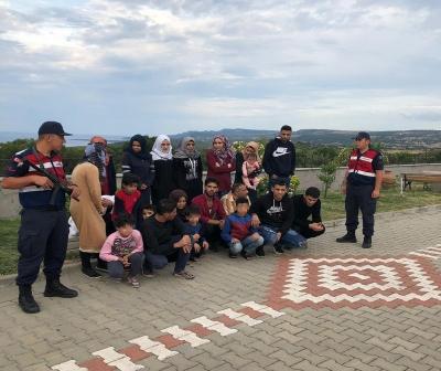 Çanakkale'de 78 göçmen yakalandı