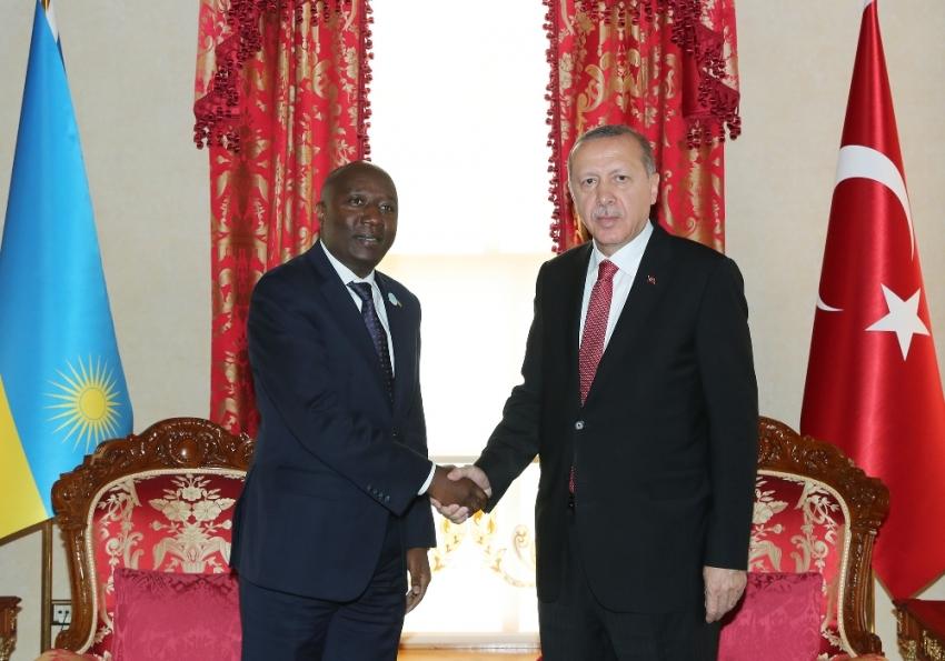 Erdoğan Ruanda Başbakanı Ngirente ile bir araya geldi