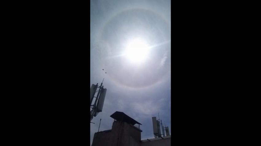Başkent'te güneşin etrafında halka oluştu