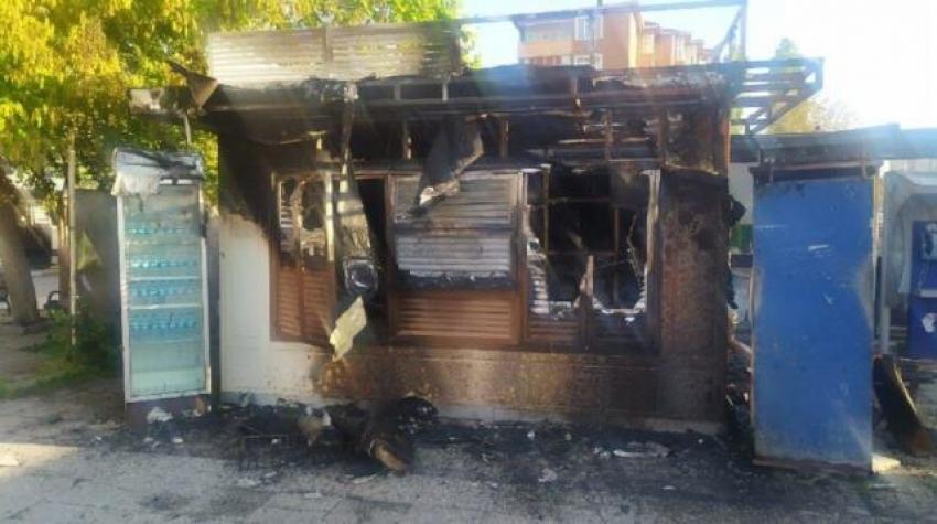 Halk Ekmek büfesi yangını sabotaj kaynaklı