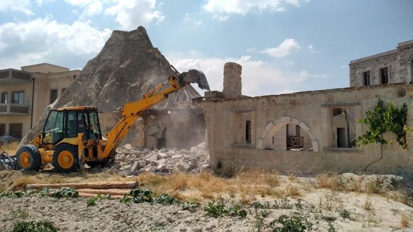 6 kaçak yapının yıkımı tamamlandı